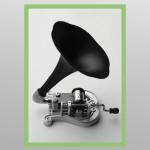 Lyre musicale avec cornet